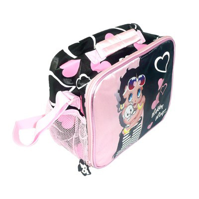 Image Sac à Lunch Betty Boop, noir & rose